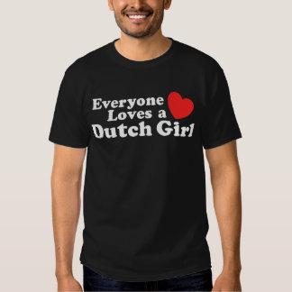 Chica holandés playeras