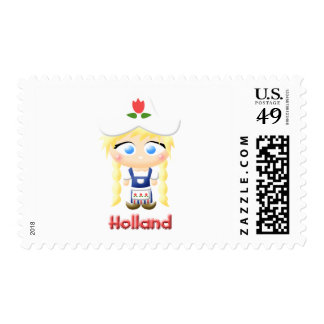 Chica holandés sellos