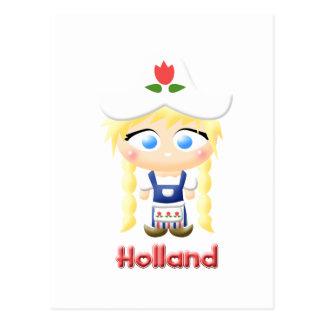 Chica holandés postal