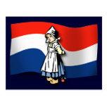 Chica holandés tarjetas postales
