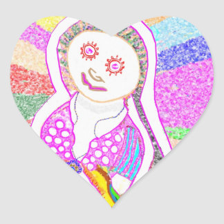 Chica ideal de SABRINA en rosa Pegatina En Forma De Corazón