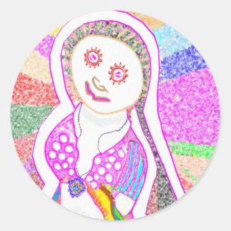 Chica ideal de SABRINA en rosa Pegatina Redonda