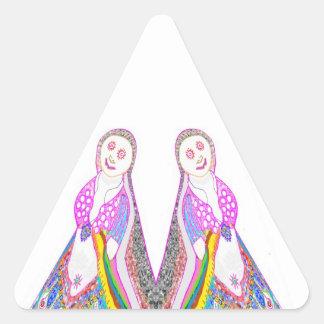 Chica ideal de SABRINA en rosa Pegatina Triangular