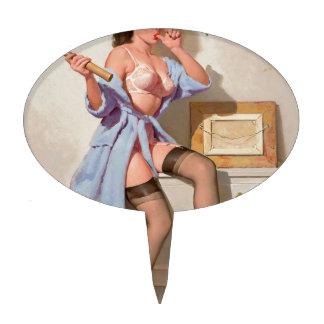 Chica incorrecto del Pin-para arriba del clavo Figura Para Tarta