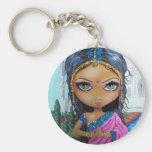 chica indio de la sari llaveros