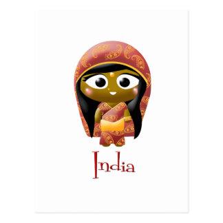 Chica indio postal
