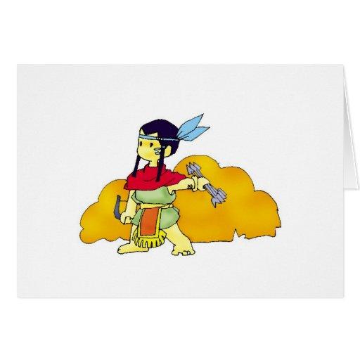 Chica indio tarjetas