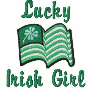 chica irlandés afortunado del trébol afortunado ir