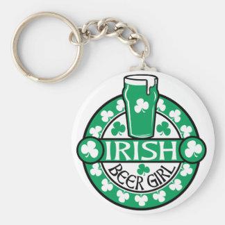 Chica irlandés de la cerveza llaveros personalizados