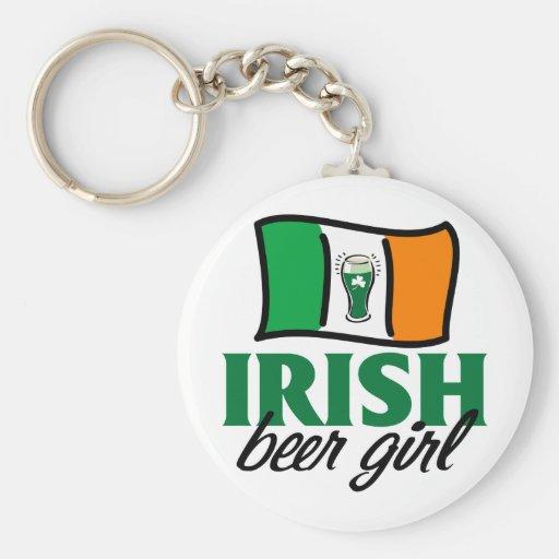 Chica irlandés de la cerveza llavero personalizado