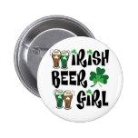 Chica irlandés de la cerveza pin