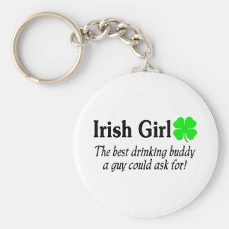 Chica irlandés el mejor compinche de consumición q llavero personalizado