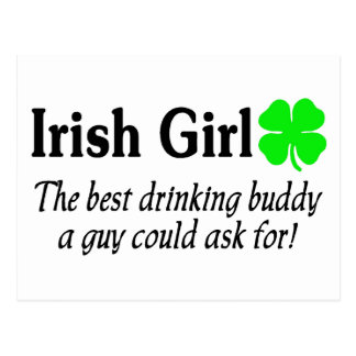 Chica irlandés el mejor compinche de consumición q tarjetas postales