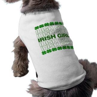 Chica irlandés camiseta de mascota