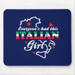 Chica italiano alfombrillas de ratón