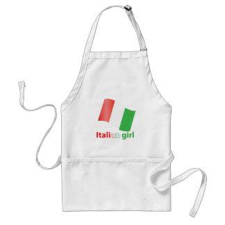 Chica italiano delantal