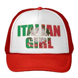 Chica italiano gorras