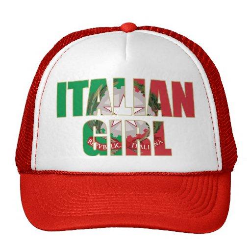 Chica italiano gorro de camionero