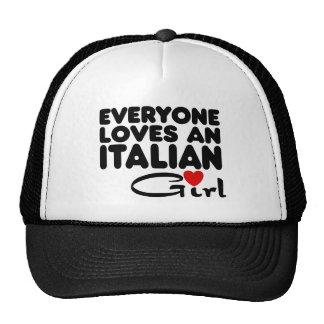 Chica italiano gorros