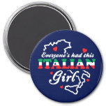 Chica italiano imán de frigorifico