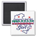 Chica italiano imanes para frigoríficos