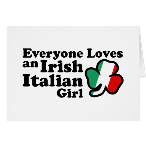 Chica italiano irlandés felicitación
