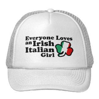 Chica italiano irlandés gorro