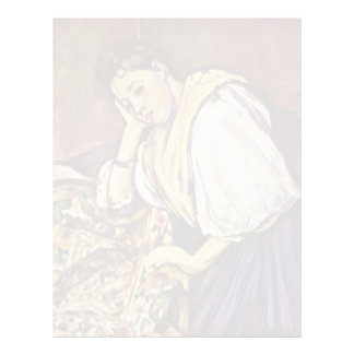 Chica italiano joven de Paul Cézanne (la mejor Membrete