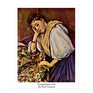 Chica italiano joven de Paul Cezanne Tarjetas Postales