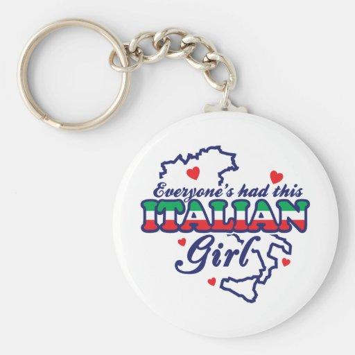 Chica italiano llavero personalizado