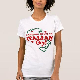 Chica italiano camisetas