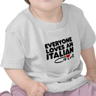 Chica italiano camiseta