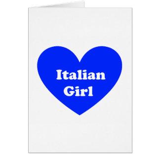 Chica italiano tarjeta de felicitación