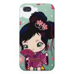 Chica japonés Ayaka de Wamono iPhone 4 Cárcasa