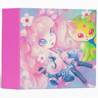 """Chica japonés de Wamono con el gatito de Kawaii Carpeta 2"""""""