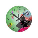 CHICA japonés del KIMONO del GEISHA Relojes De Pared