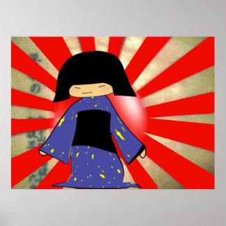 chica japonés impresiones