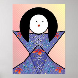 chica japonés poster
