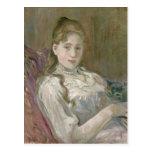 Chica joven con el gato, 1892 postales