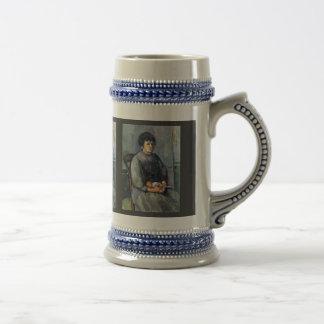 Chica joven con la muñeca de Paul Cézanne (la mejo Taza De Café