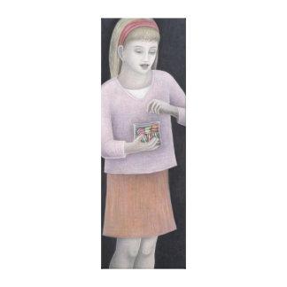 Chica joven con los dulces 2007 impresion de lienzo