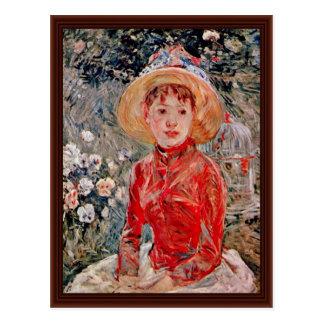 Chica joven con una jaula de Morisot Berthe Postales