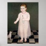 Chica joven con una muñeca, 1838 posters