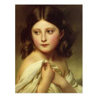 Chica joven de Francisco Winterhalter-, princesa C Tarjetas Postales