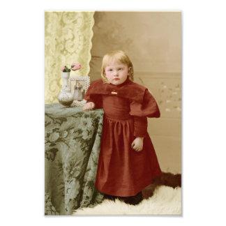 Chica joven del Victorian del niño teñido Impresiones Fotograficas