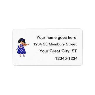 chica joven dress.png azul del jugador del violín etiqueta de dirección