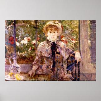 Chica joven en una casa verde de Berthe Morisot Poster