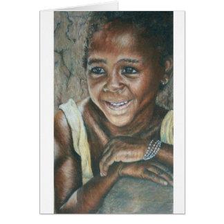 Chica joven, Koulikoro Tarjeta De Felicitación