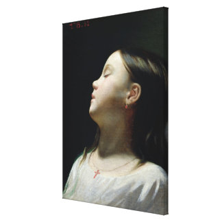 Chica joven que duerme, 1852 lona envuelta para galerias
