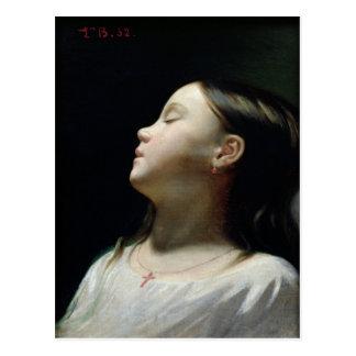 Chica joven que duerme, 1852 postales